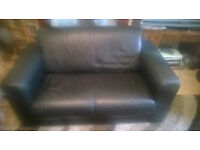 black leather two seater free for pick up today
