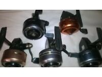5 ABU closed face reels nice collection