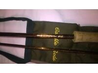 fly rod hand built julian caudel 10ft6inch 6/7weight top quality like new