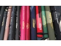 28 quality fly rods in cordula tubes all sizes and weights and makes