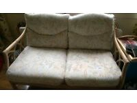 SOFA DOUBLE 2 SEATER BAMBOO RATTAN CONSERVATORY