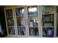 Bookshelves bookcase window glass display cabinet cupboard sideboard