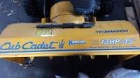 "13HP/45"" Barely Used Commercial Cub Cadet Snowblower"