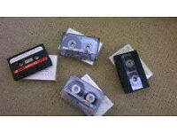 Blank Music Cassettes (about 120) - music recorded on them but can be erased.