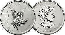 Piece de monnaie de 5$ 1 OZ pur argent 2008 Olympic Maple Leaf