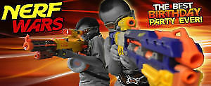 Nerf Ball Party - Like paintball but using nerf balls! Party