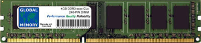 4GB DDR3 1066/1333/1600/1866MHz 240-PIN DIMM RAM FOR DESKTOPS/PCs/MOTHERBOARDS