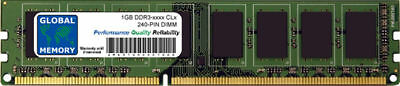 1GB DDR3 1066MHz PC3-8500 / 1333MHz PC3-10600 240-PIN DIMM MEMORY FOR DESKTOPS