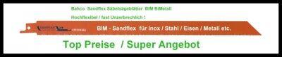 Säbelsägeblatt 5er Pack Sandflex BIM BiMetall 300mm 8 ZPZ Stahl, INOX, Alu, Meta