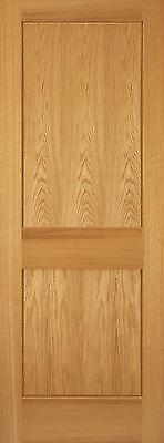 2 Panel Red Oak Mission Shaker Flat Panel Solid Core Interior Wood Doors Door for sale  USA
