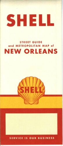 1956 Shell Road Map: New Orleans NOS