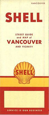 1956 Shell Road Map: Vancouver NOS