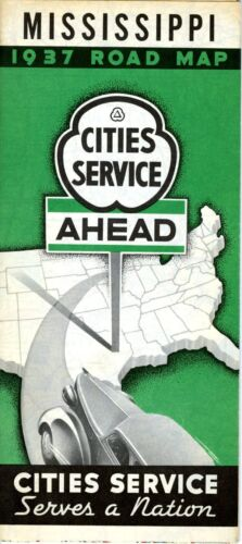1937 Cities Service Map: Mississippi NOS