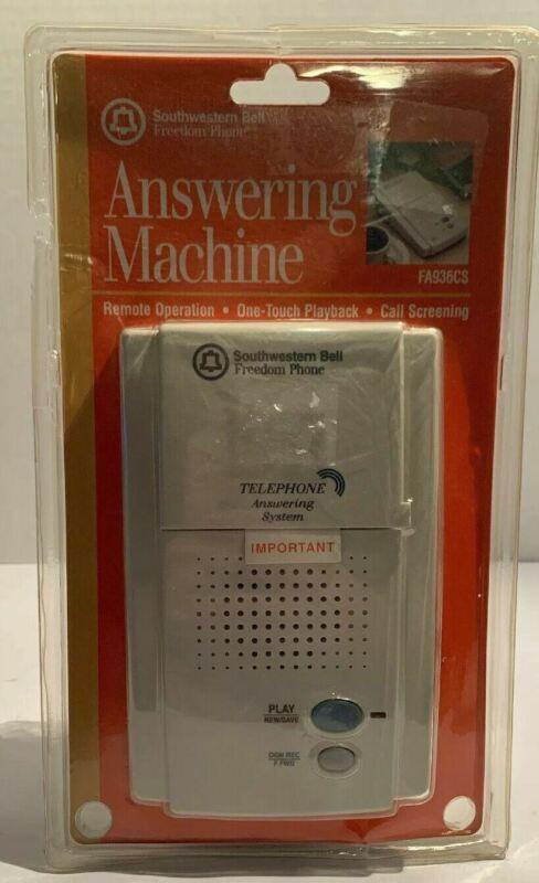 Southwestern Bell Answering Machine NIP Freedom Phone Microcassette FA936CS H2