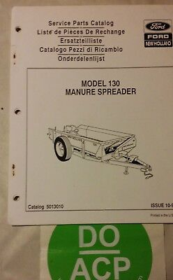 Ford New Holland Model 130 Manure Spreader Service Parts Catalog 5013010 R3-s27