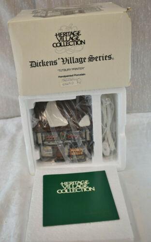 Dept 56 Dickens Village Series Tutbury Printer 5569-0  Box Christmas 1990