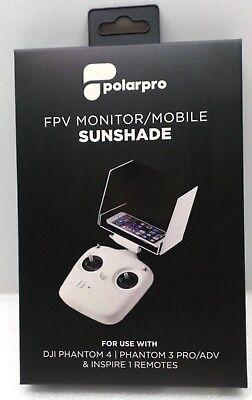 Polarpro FPV Monitor/Mobile Sunshade DJI Phantom 4&3 Pro/ADV & Inspire 1 Remotes