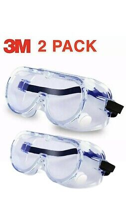 3m Safety Goggles Set 2 Pieces Lab Work Eye Protective Eyewear Clear Lens