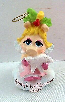 Baby Miss Piggys Star Muppet Babies Ornament 1st Christmas Girl Jim Henson