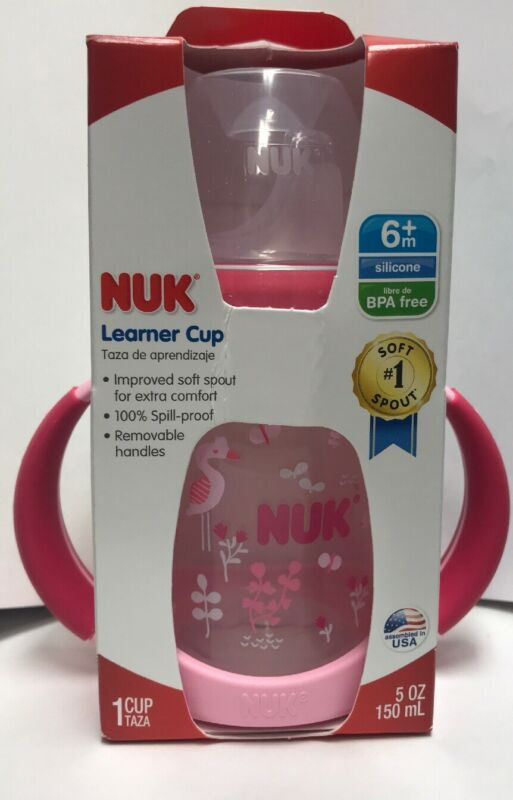 Nuk Silicone 6 Month BPA Free Learner Cup Pink Flamingo - 5 oz