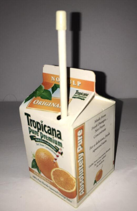 RARE AM FM  Tropicana Orange Juice Carton RADIO Working vintage