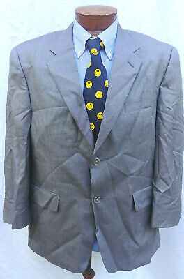 42S Mens Tasso Elba Macys Jacket Blazer Coat 2 Btn Wool/Silk Taupe single vent Tasso Elba Mens Single