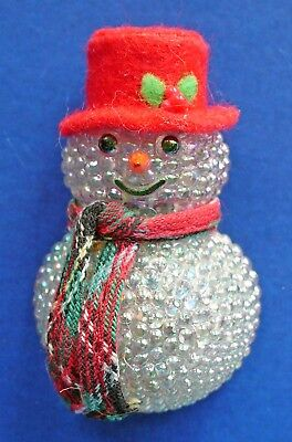 Avon PIN Christmas Vintage LIGHT UP SNOWMAN CHILLY Samantha Holiday Brooch WORKS