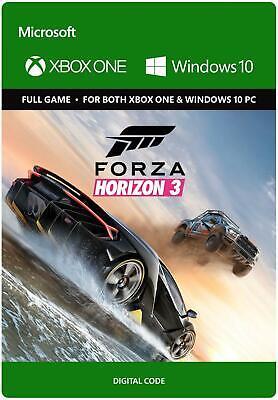 FORZA HORIZON 3 XBOX ONE & WINDOWS 10 PC FULL GAME KEY