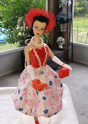 Vintage Barbie Clone BILD Lilli Fab Lu VELVET PINK RED Ballon Dress & Hat VHTF](Barbie Ballon)