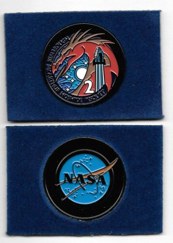 """NASA/SpaceX """"Crew 2 Operational Mission"""" 1.5"""" Hand Painted Commemorative Coin"""