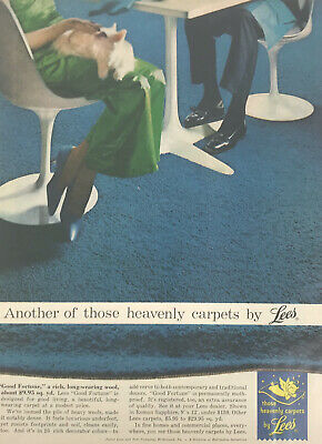 Lees Carpets Floor Magazine Print Ad Vintage Household Home Decor Cat Original