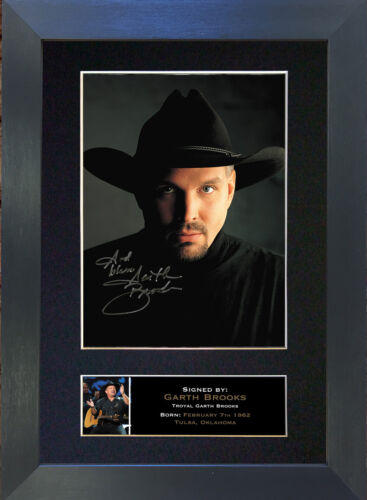 GARTH BROOKS Signed Mounted Reproduction Autograph Photo Prints A4 332