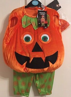 Tu Halloween Fancy Dress Petrifying Pumpkin Costume With Hat. New. 0-3 months. - 0-3 Month Pumpkin Halloween Costumes