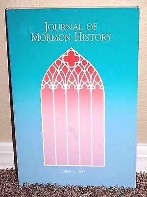 Journal of Mormon History Vol. 19 No. 1 1993 Masons, Polygamy & Indians LDS PB ()
