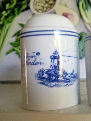 Salzstreuer Pfefferstreuer Unser Norden Leuchturm Maritim Nordsee Porzellan