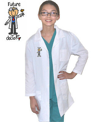 Kids Lab Coat with Future Doctor Boy Embroidery Design for little Doctors - Lab Coat For Kids