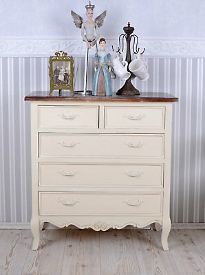 Vintage Kommode Shabby Chic Nachttisch Wäschekommode Nachtkommode Nachtschrank