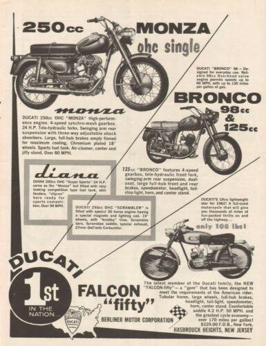 1963 Ducati Monza, Bronco, Diana, Falcon 50 Fifty - Vintage Motorcycle Ad