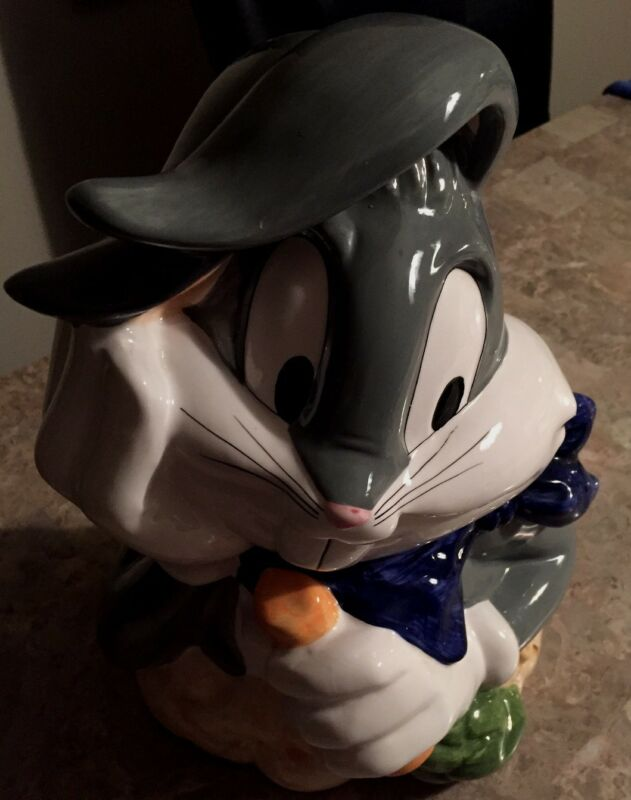 Bugs Bunny Looney Tunes Cookie Jar Vintage Warner Brothers 1993 New