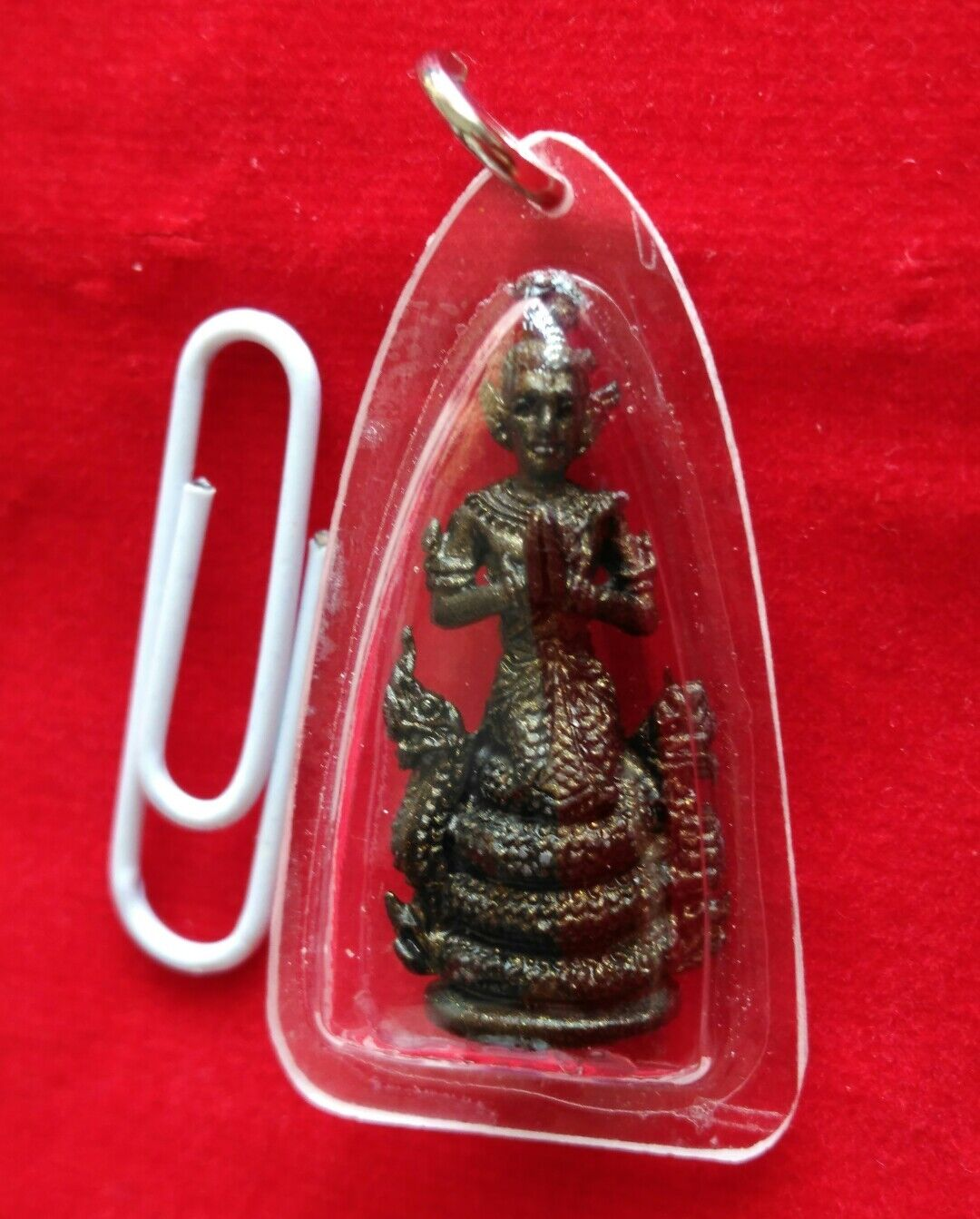 Pendant Thao Srisutho King Naga Feiish Talisman Thai Amulet Prosperity Success X
