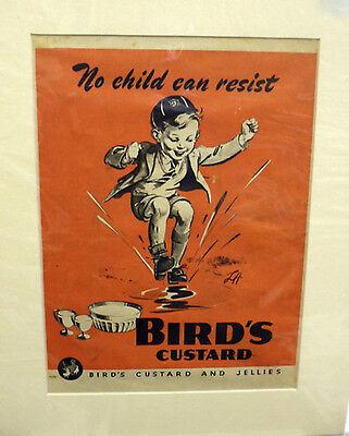 Original Vintage Advertisement mounted ready to frame Birds Custard 1945