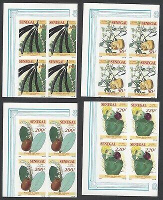 Senegal #1032-35 Fruit Bearing Plants IMPERF blocks of 4 MNH