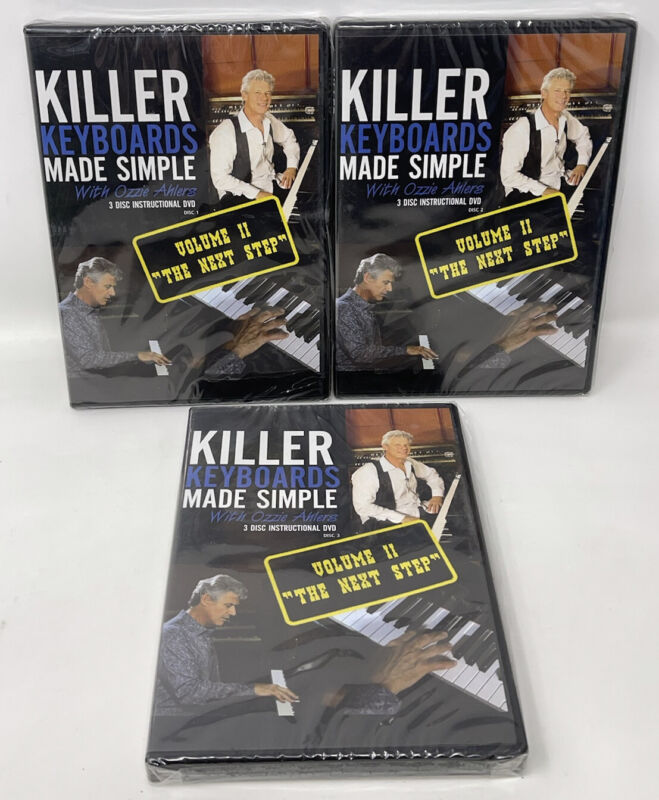 Killer Keyboards Made Simple 3 DVDs Vol 2 Instructional Ozzie Ahlers Piano NEW