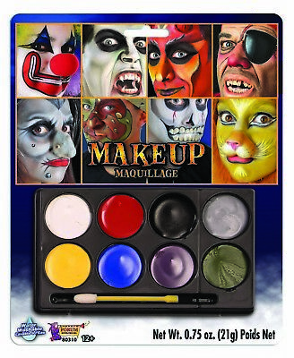 Carnival Halloween Face Paint Disguise Costume Makeup Kit