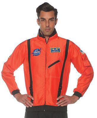 Orange Herren Erwachsene Astronaut Kostüm Raum Explorer Zubehör - Herren Orange Astronaut Kostüm