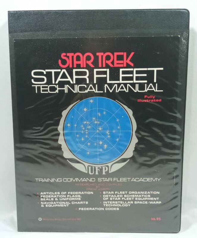 Star Trek Star Fleet Technical Manual 1st Edition 1975 by Franz Joseph