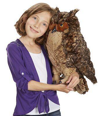 Melissa & Doug Giant Owl - Lifelike Stuffed Animal 17 inches