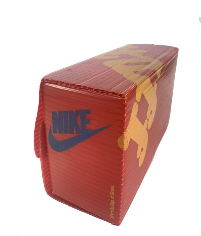 Vintage Nike Red Shoe Box Case Stuff 1980's Plastic (childs) Rare