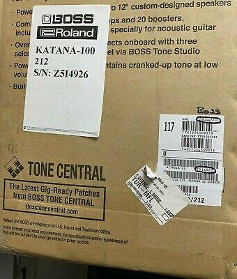"""BOSS KATANA-100/212 - 100-watt 2x12"""". SEALED IN THE BOX. 100% MINT"""