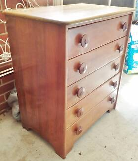 Mid Century Solid Myrtle Chest of Drawers Myer Heritage Fred Ward